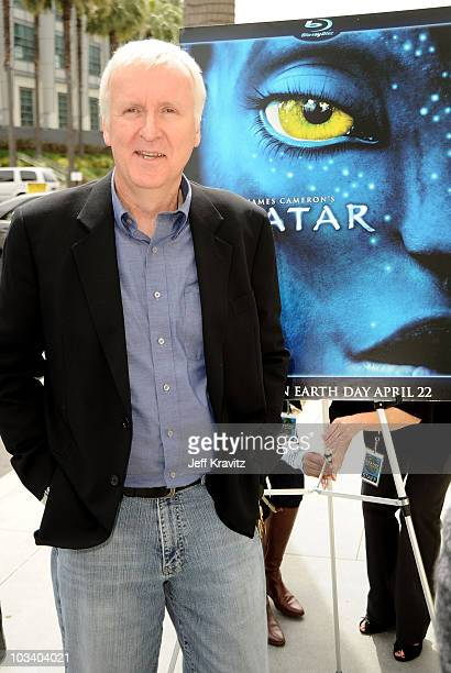 Director James Cameron plants first tree in North America symbolizing the one million tree initiative on behalf of the 'Avatar' Bluray disc and DVD...