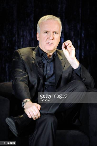 Director James Cameron speaks at the 'Avatar' Global Media Day in celebration of the April 22nd Earth Day Bluray Disc and DVD release at an...