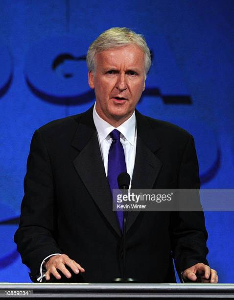 Director James Cameron speaks onstage at the 63rd Annual Directors Guild Of America Awards held at the Grand Ballroom at Hollywood Highland on...