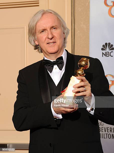 Director James Cameron winner of Best Motion Picture Drama award for Avatar poses in the press room at the 67th Annual Golden Globe Awards held at...