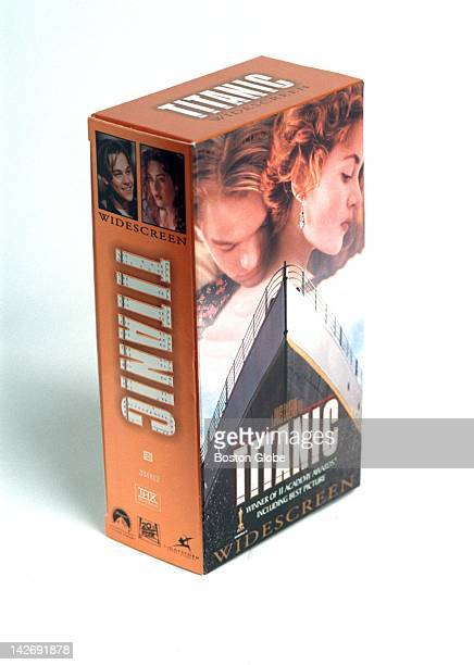 Director James Cameron's epic 1997 film 'Titanic' on VHS photographed in The Boston Globe's studio on Sept 2 1998