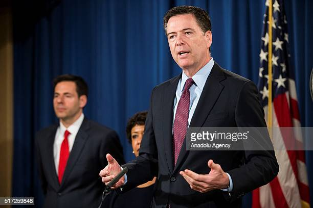 Director James Comey and U.S. Attorney General Loretta Lynch announce that they are indicting seven Iranian hackers for attacking financial...