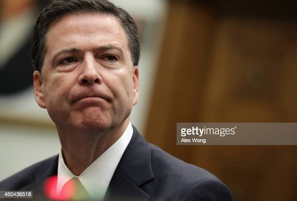 Director James Comey testifies during a hearing before the House Judiciary Committee June 11 2014 on Capitol Hill in Washington DC The committee held...