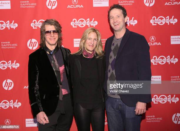 Director James Cooper producer Loretta Harms Sundance Film Festival director of programming Trevor Groth attend the premiere of Lambert Stamp at The...