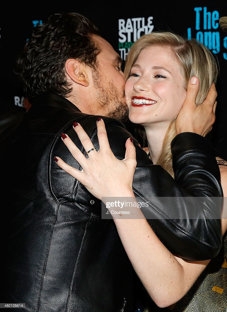 Director James Franco and actress Allie Gallerani attend 'The Long Shrift' after party at Rattlestick Playwrights Theater on July 13, 2014 in New York City.