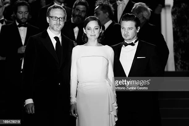 Director James Gray actress Marion Cotillard and actor Jeremy Renner attend 'The Immigrant' Premiere during the 66th Annual Cannes Film Festival on...