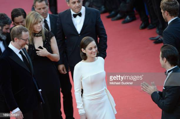 Director James Gray Alexandra Dickson Gray and actress Marion Cotillard attend the 'The Immigrant' premiere during The 66th Annual Cannes Film...