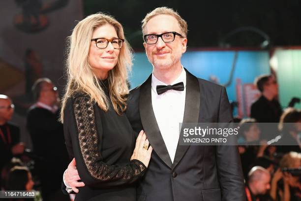 US director James Gray and his wife Alexandra Dickson Gray arrive on August 29 2019 for the screening of the film Ad Astra during the 76th Venice...