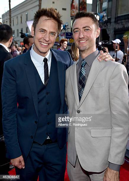 """Director James Gunn and actor Sean Gunn attend The World Premiere of Marvel's epic space adventure """"Guardians of the Galaxy"""" directed by James Gunn..."""