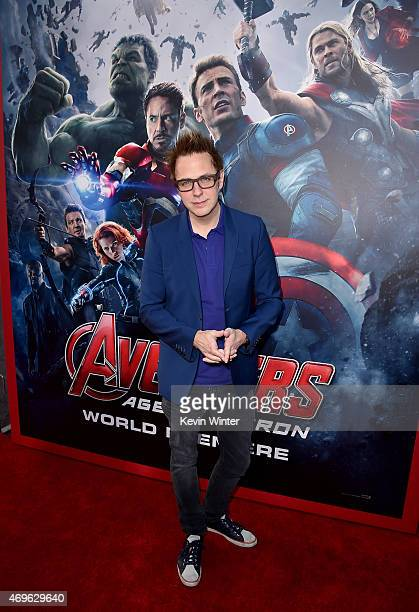 Director James Gunn attends the premiere of Marvel's 'Avengers Age Of Ultron' at Dolby Theatre on April 13 2015 in Hollywood California