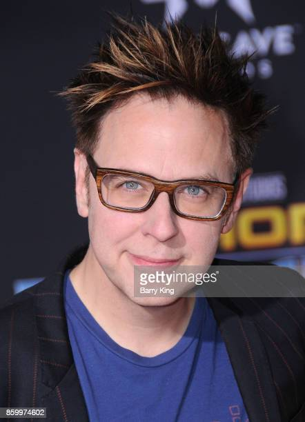 Director James Gunn attends the world premiere of Disney and Marvel's 'Thor Ragnarok' at El Capitan Theatre on October 10 2017 in Los Angeles...