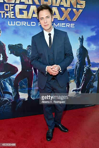 """Director James Gunn attends The World Premiere of Marvel's epic space adventure """"Guardians of the Galaxy"""" directed by James Gunn and presented in..."""