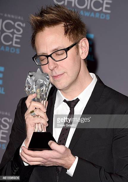 Director James Gunn poses in the press room during the 20th annual Critics' Choice Movie Awards at the Hollywood Palladium on January 15 2015 in Los...