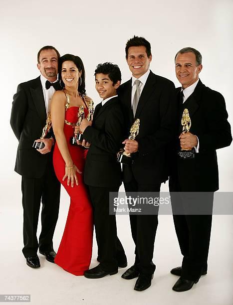 Director James Hayman Actress Ana Ortiz Actor Mark Indelicato Writer Silvio Horta and Actor Tony Plana poses for a portrait during the 2007 NCLR ALMA...