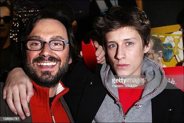 Director James Huth and Jean Baptiste Maunier in Marne la Vallee France on March 21 2007