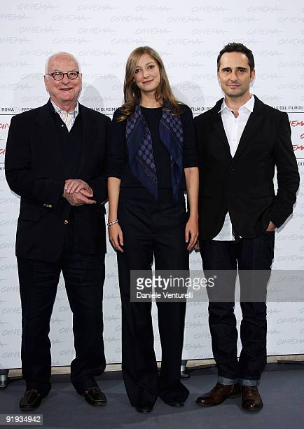 Director James Ivory actress Alexandra Maria Lara and actor Jorge Drexler attend The City Of Your Final Destination Photocall during day 2 of the 4th...