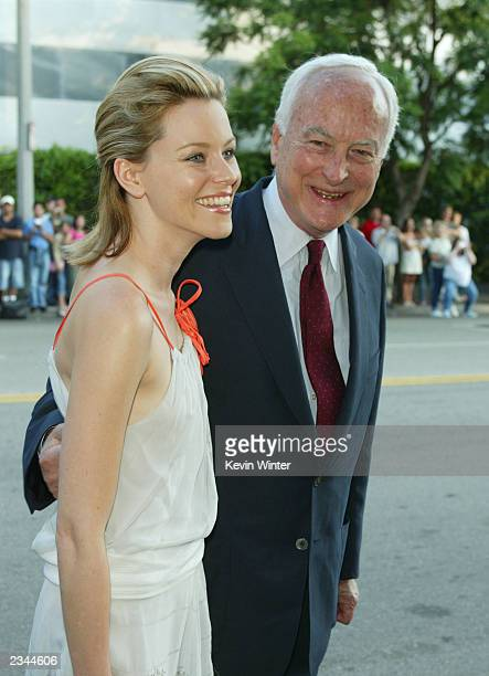 Director James Ivory and actress Elizabeth Banks attend the premiere of the film Le Divorce at the Mann's Festival Theatre July 29 2003 in Westwood...