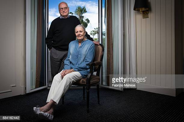Director James Ivory and actress Vanessa Redgrave are photographed for The Hollywood Reporter on May 14 2016 in Cannes France