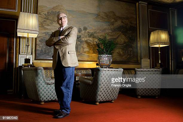Director James Ivory poses during a portrait session for the film 'City Of Your Final Destination' during the 4th International Rome Film Festival at...