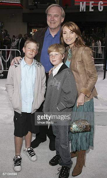 Director James Keach actress Jane Seymour and their sons John and Kristopher attend the world premiere of the Twentieth Century Fox film Ice Age The...