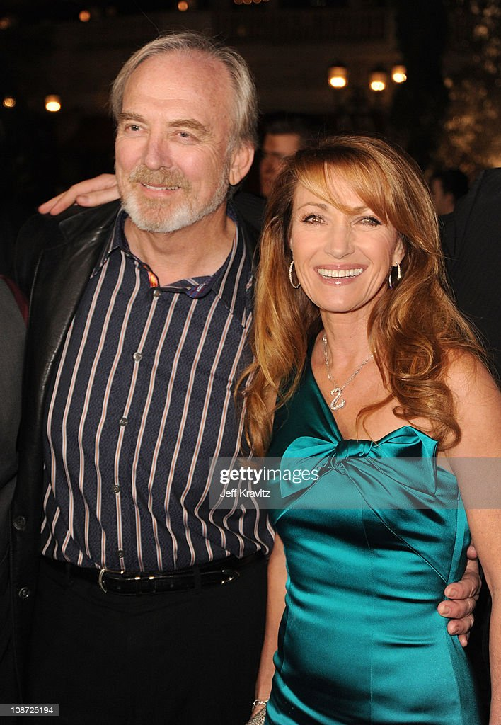Director James Keach (L) and Executive Producer Jane Seymour arrive at the Los Angeles premiere of 'Waiting for Forever' held at Pacific Theaters at the Grove on February 1, 2011 in Los Angeles, California.