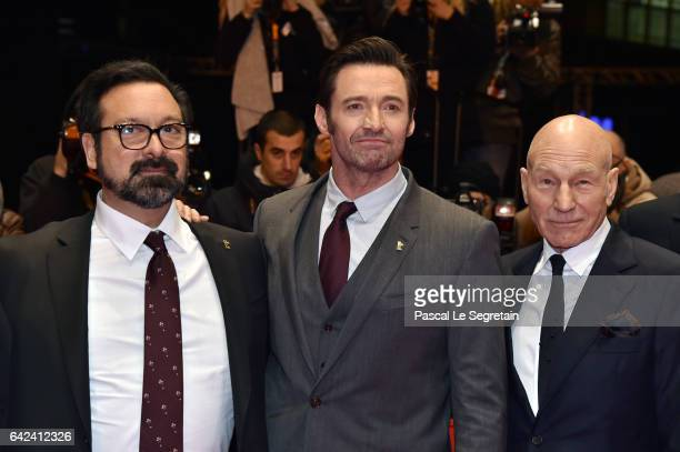 Director James Mangold actors Hugh Jackman and Patrick Stewart attend the 'Logan' premiere during the 67th Berlinale International Film Festival...