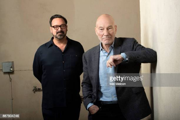 Director James Mangold and actor Patrick Stewart of the movie 'Logan' are photographed at 20th Century Fox Studios for Los Angeles Times on November...