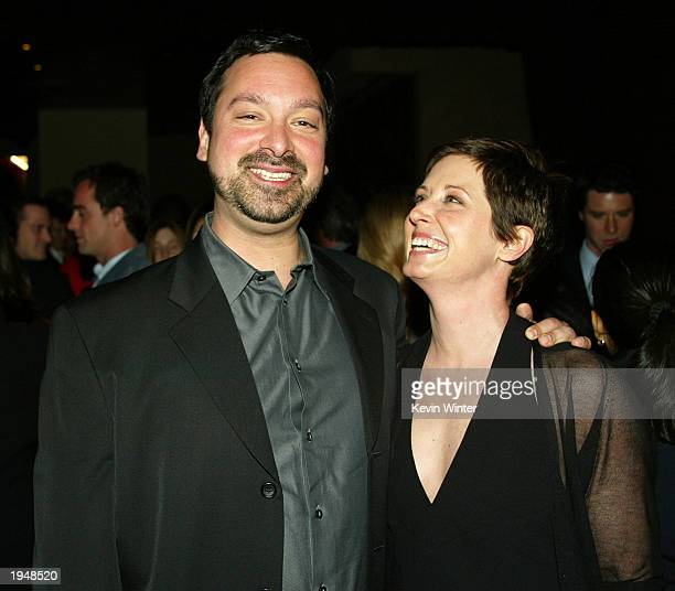 OUT*** Director James Mangold and his wife producer Cathy Konrad pose at the afterparty for Identity at The Highlands on April 23 2003 in Los Angeles...