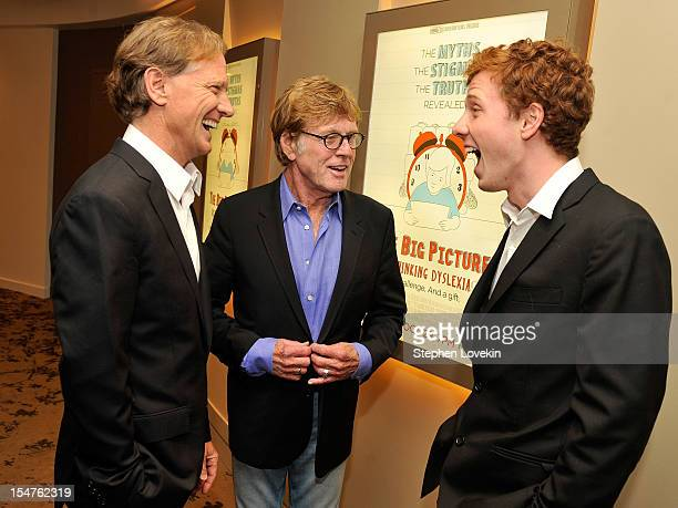 Director James Redford actor/filmmaker Robert Redford and film subject Dylan Redford attend HBO's New York Premiere of The Big Picture Rethinking...