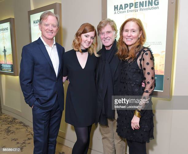 Director James Redford Lena Redford Robert Redford and Amy Redford attend the HBO Documentary Films NY Premiere of HAPPENING A CLEAN ENERGY...