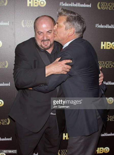Director James Toback and actor Alec Baldwin attend the 'Seduced And Abandoned' New York premiere at Time Warner Center on October 24 2013 in New...