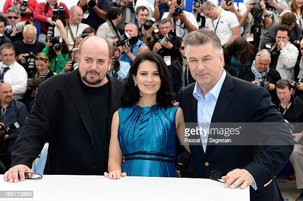 Director James Toback Hilaria Baldwin and actor Alec Baldwin attend the 'Seduced And Abandoned' Photocall during The 66th Annual Cannes Film Festival...