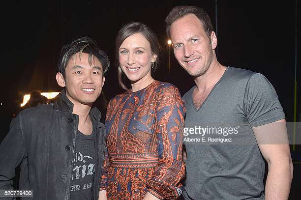 Director James Wan actress Vera Farmiga and actor Patrick Wilson attend CinemaCon 2016 Warner Bros Pictures Invites You to The Big Picture an...