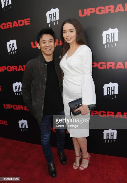 Director James Wan and Ingrid BIsu arrive for the premiere of BH Tilt's Upgrade held at the Egyptian Theatre on May 30 2018 in Hollywood California