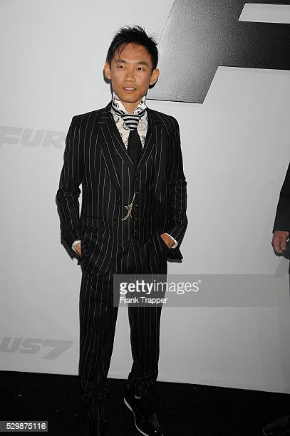 Director James Wan arrives at the premiere of Furious 7 held at the TCL Chinese Theater in Hollywood
