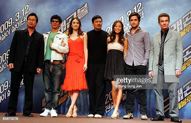Director James Wong actor Joon Park actress Emmy Rossum actor Chow YunFat actress Jamie Chung actor Justin Chatwin and James Marsters attend the...