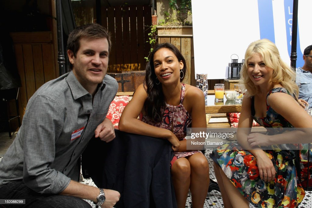 Director Jamie Linden, actresses Rosario Dawson and Ari Graynor attend '10 Years' brunch reunion event hosted by GREY GOOSE Vodka And Anchor Bay Films at Hotel Chantelle on September 16, 2012 in New York City.
