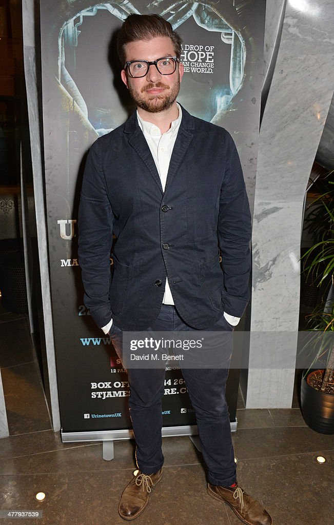 Director Jamie Lloyd attends the press night performance of 'Urinetown' at the St James Theatre on March 11, 2014 in London, England.