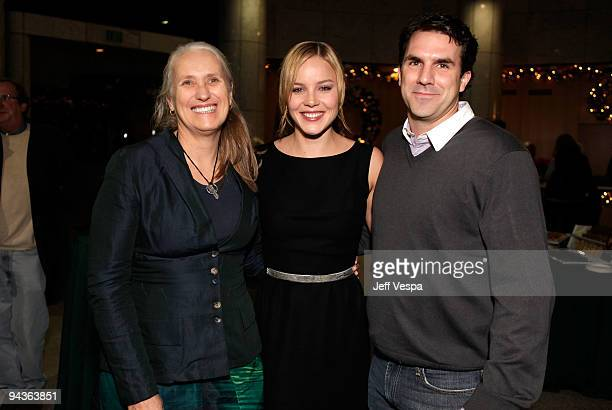 Director Jane Campion actress Abbie Cornish and actor Paul Schneider attend a special Los Angeles screening of 'Bright Star' on December 12 2009 in...