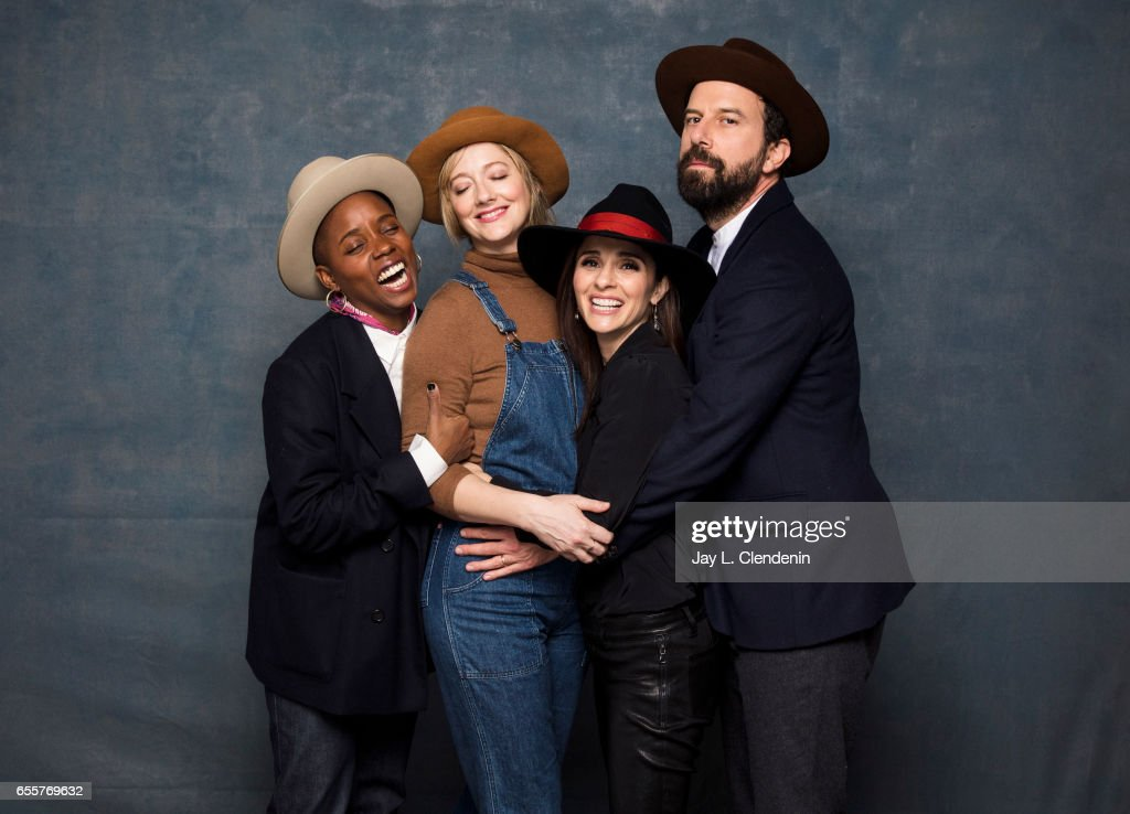 Director Janicza Bravo, actress Judy Greer, actress Shiri Appleby, actor Brett Gelman, from the film Lemon, are photographed at the 2017 Sundance Film Festival for Los Angeles Times on January 23, 2017 in Park City, Utah. PUBLISHED IMAGE.