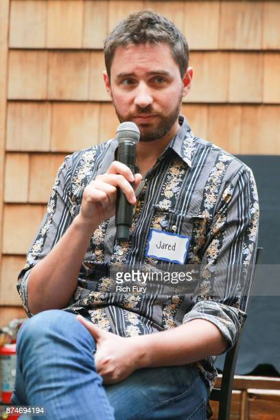Director Jared Moshe speaks during DIRECTV Presents The Directors Table with A24 and IndieWire at Wood Vine on November 15 2017 in Hollywood...