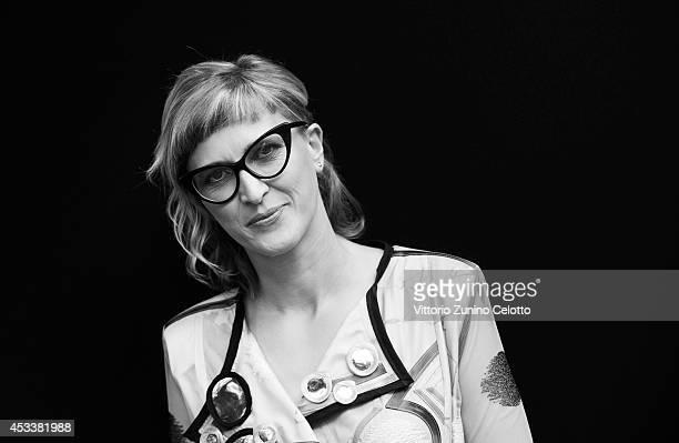 Director Jasmila Zbanic poses on August 8 2014 in Locarno Switzerland