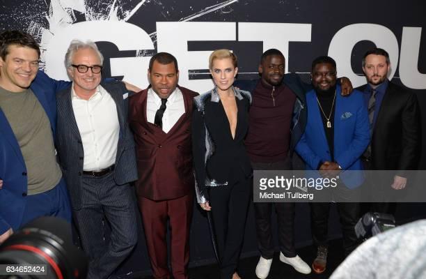 Director Jason Blum actors Bradley Whitford Jordan Peele Allison Williams Daniel Kaluuya and Milton Lil Rel Howery and producer Sean McKittrick...