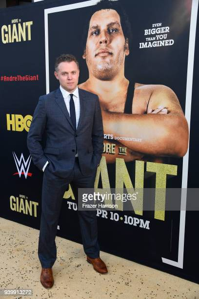 Director Jason Hehir attends the Premiere Of HBO's 'Andre The Giant' at The Cinerama Dome on March 29 2018 in Los Angeles California