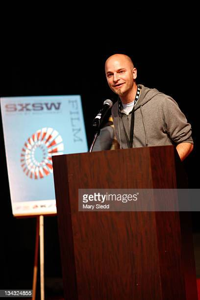 Director Jason Jakaitis speaks onstage during the 2011 SXSW Music Film Interactive Festival Film Awards at Vimeo on March 15 2011 in Austin Texas