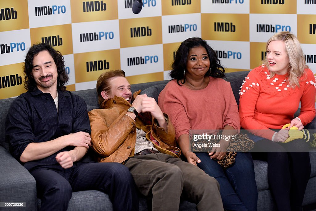 Director Jason Lew and actors Boyd Holbrook, Octavia Spencer, and Elisabeth Moss in The IMDb Studio In Park City, Utah: Day Four - on January 25, 2016 in Park City, Utah.