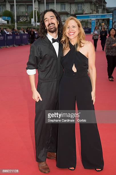 Director Jason Lew and producer Laura Rister attend the Where To Invade Next Premiere during the 42nd Deauville American Film Festival on September 4...