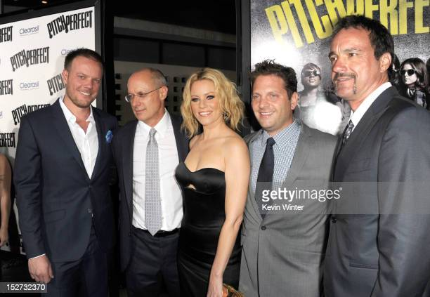 Director Jason Moore producer Paul Brooks actress/producer Elizabeth Banks producer Max Handelman and executive producer Scott Niemeyer arrive at the...
