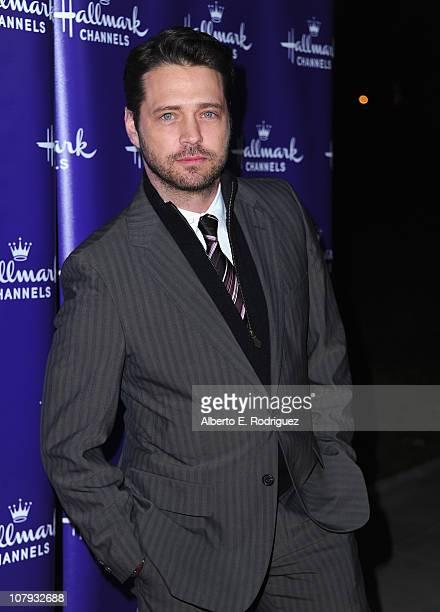 Director Jason Priestley arrives to Hallmark Channel's 2011 TCA Winter Tour Evening Gala on January 7 2011 in Pasadena California
