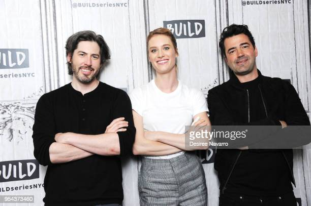 Director Jason Reitman actors Mackenzie Davis and Ron Livingston visit Build Series to discuss 'Tully' at Build Studio on May 3 2018 in New York City